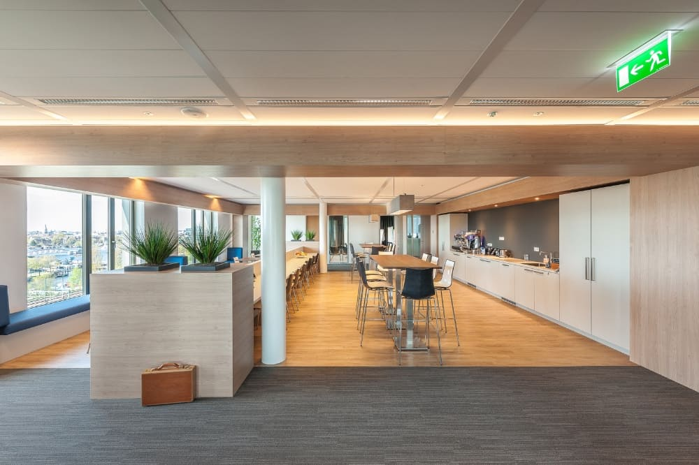 Omniplan Amsterdam Wildenberg interieurarchitectuur ontwerpt interieur kantoor bedrijfsrestaurant koffie corner
