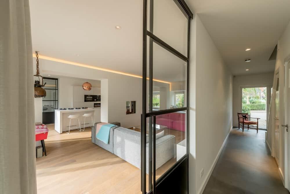 XXL ontwerp interieur Stan van den Wildenberg stalen deuren woonkeuken woonkamer