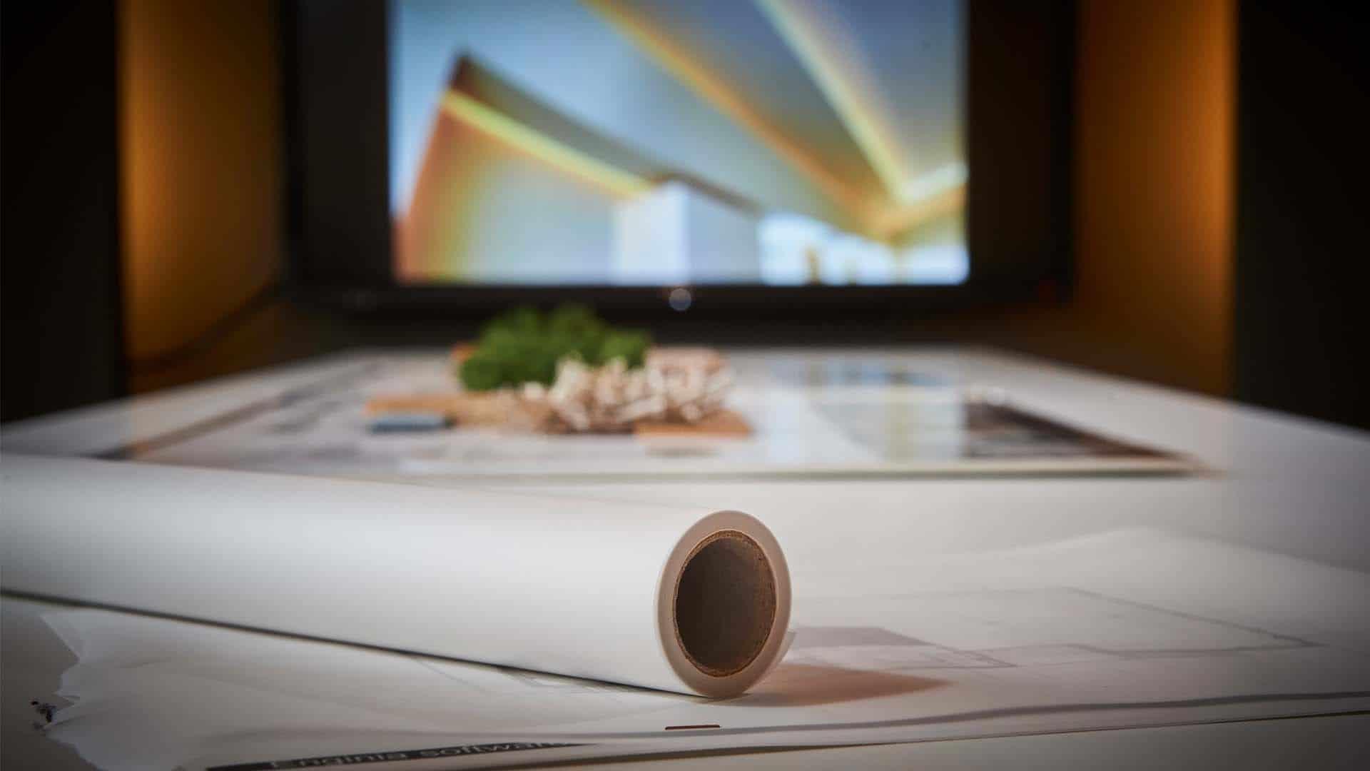 Wildenberg Stan kantoor interieur presentatie huis Leusden schetsrol
