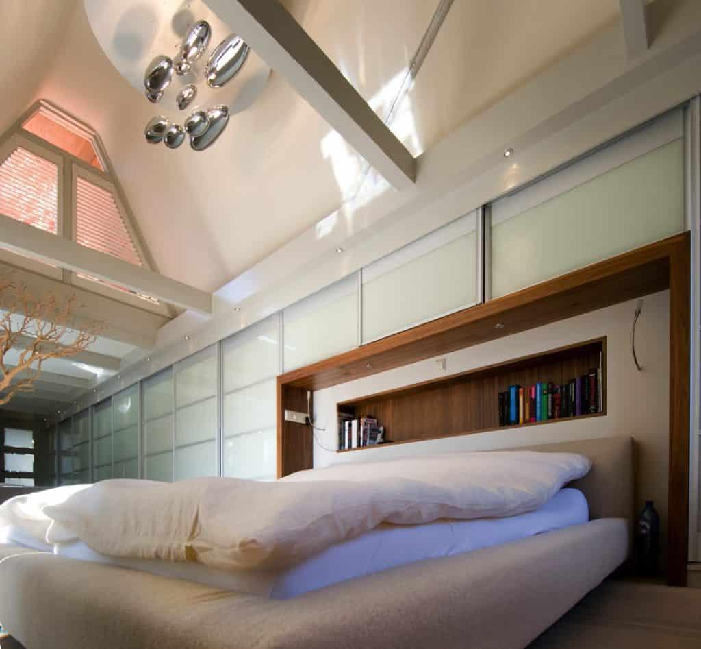 binnenhuisarchitect ontwerpt slaapkamer grachtenpand Keizersgracht Amsterdam