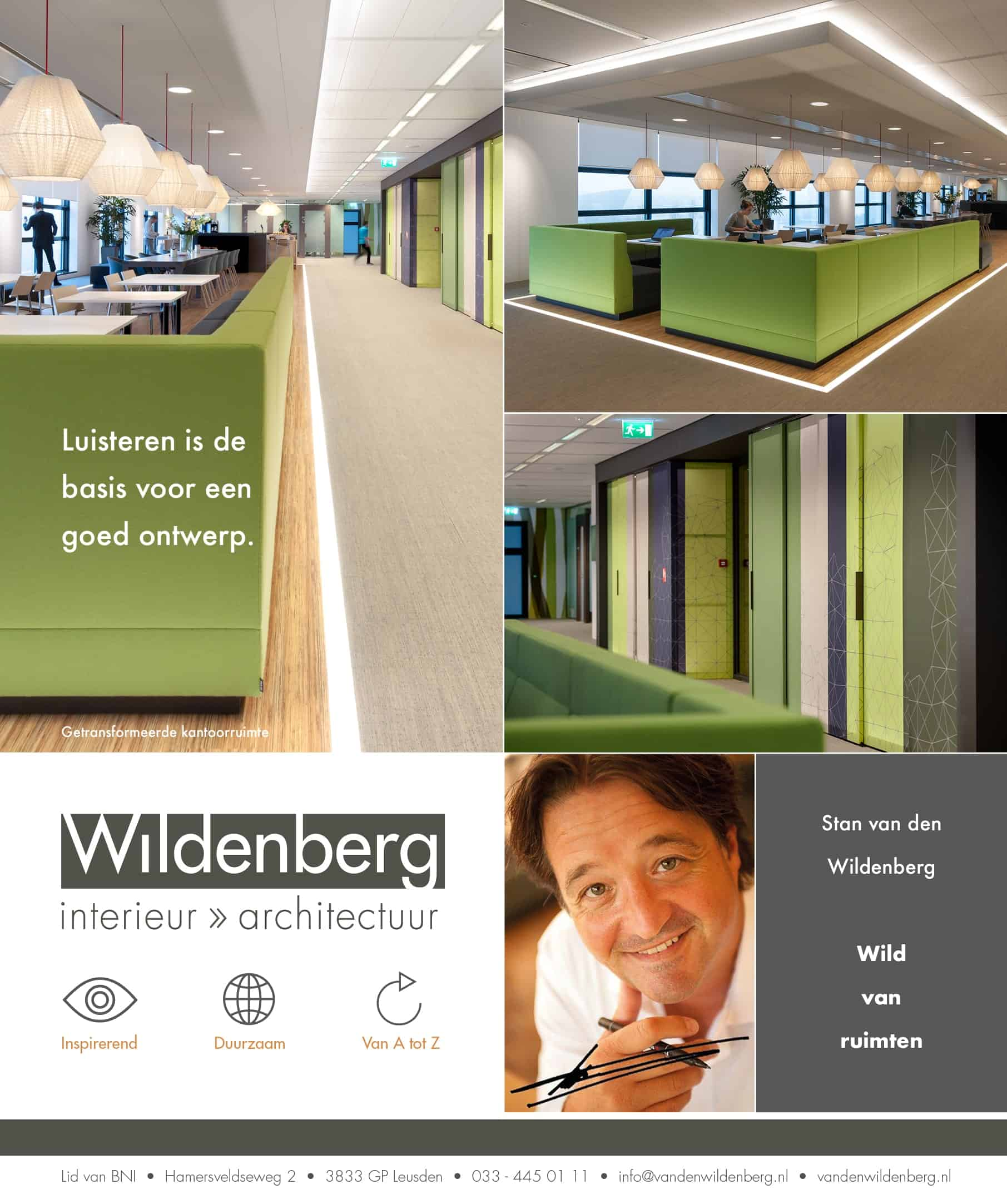 Wildenberg interieurarchitectuur advertentie Financieël Dagblad Hay Group november 2017
