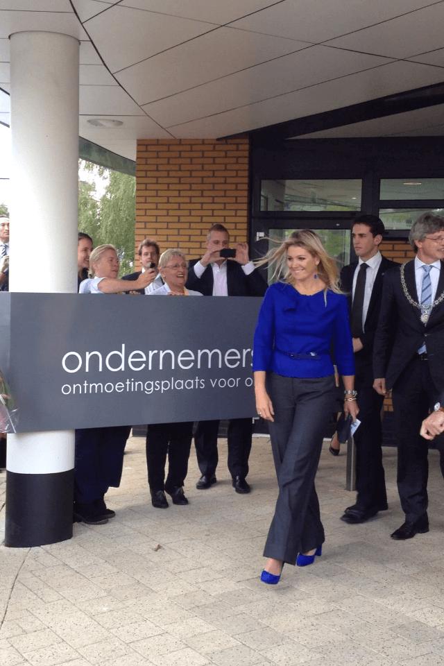 Opening van Ondernemers plaza door Maxima in Amersfoort samen met Wildenberg Interieurarchitectuur