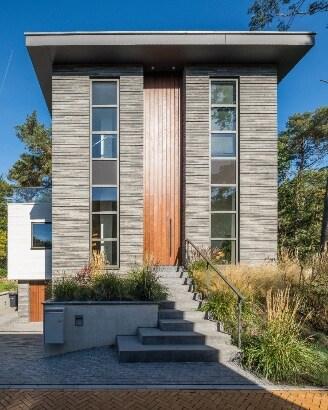 Stan van den Wildenberg ontwerpt bos villa vooraanzicht