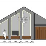 interieurarchitect Stan van den Wildenberg SCHETS aanzicht ontwerpt interieur voor loft appartement met tv meubel van Mentofix en indirecte verlichting Prinsen Bouw en bank