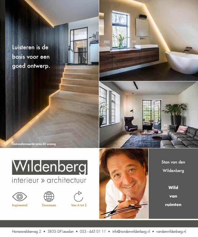 interieurarchitect Stan van den Wildenberg in een advertentie in Financiël Dagblad Persoonlijk ( FD ) door Dennis Stenacker Endure Design november 2017