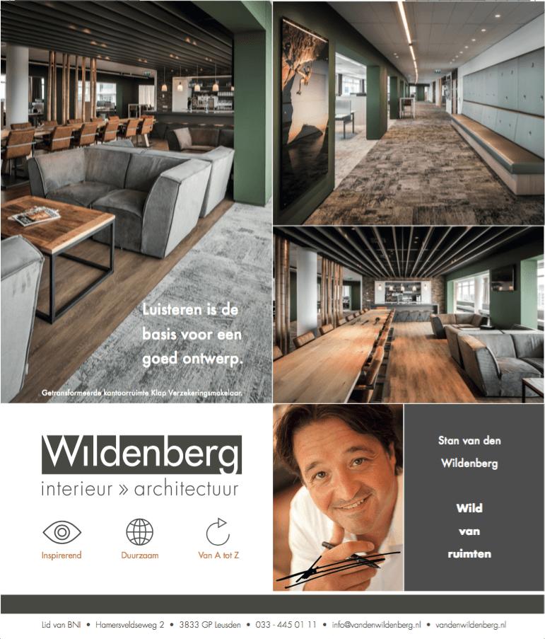 interieurarchitect Stan van den Wildenberg in een advertentie in Financiël Dagblad Persoonlijk ( FD ) van december 2018
