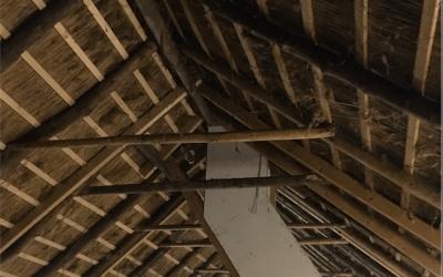 binnenhuisarchitect Wildenberg ontwerp moderne boerderij met rieten kap kapconstructie