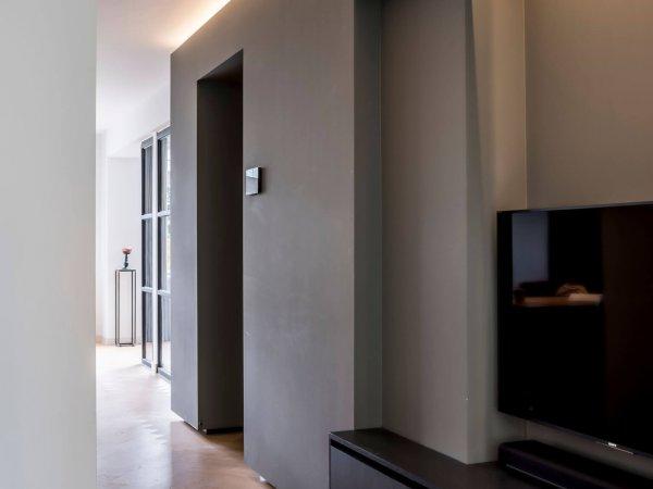 binnenhuisarchitect Wildenberg interieurontwerp studeerkamer maatwerk dressoir maatwerk tafel
