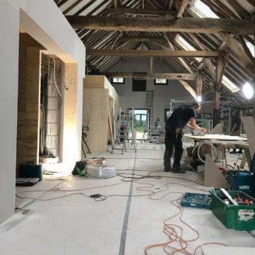 interieurarchitect Stan Wildenberg verbouw woon boerderij historische schuur kantoor bijna energie neutraal
