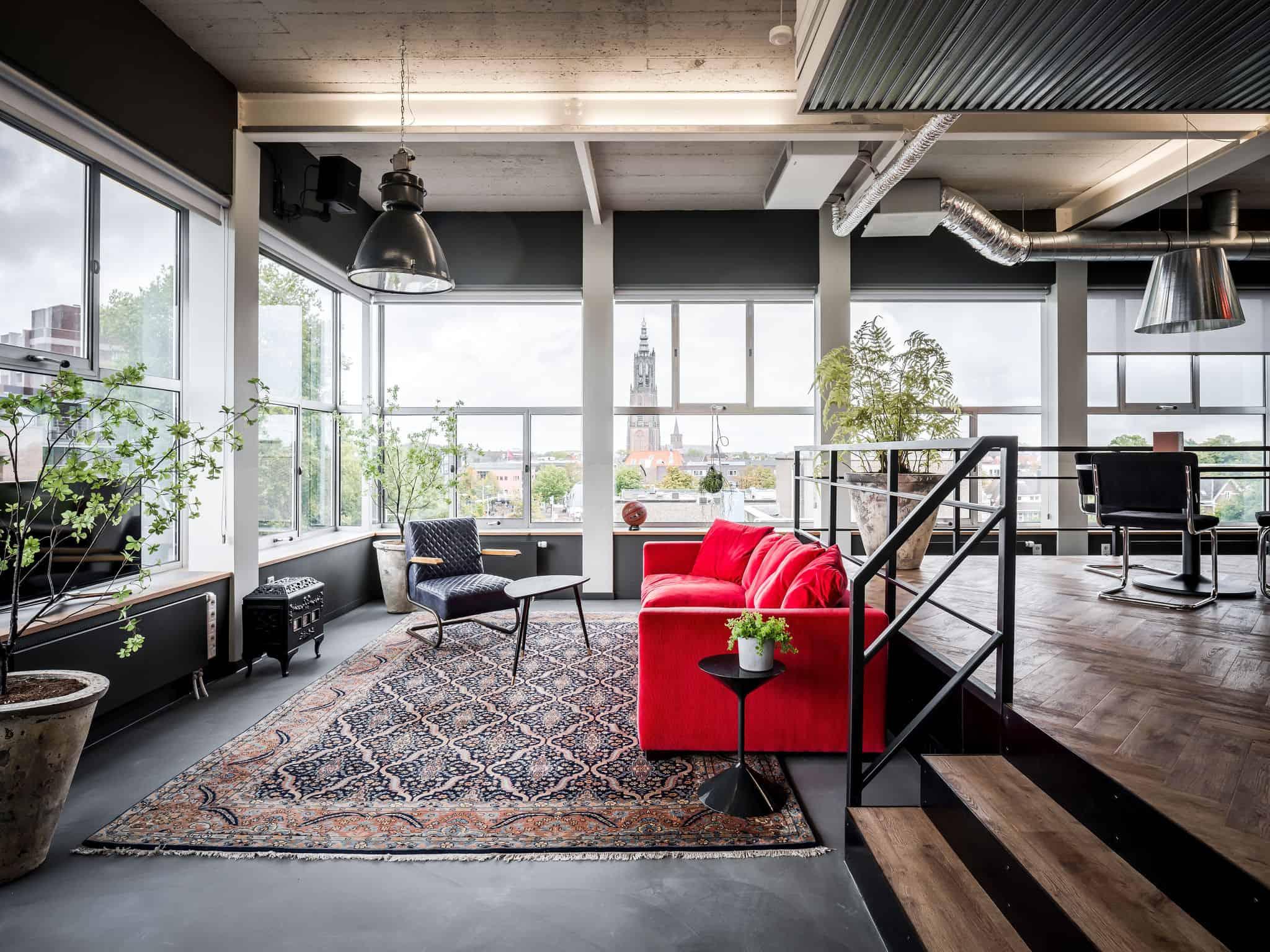 interieurarchitect ontwerpt kantoor aula Newpublic lounge